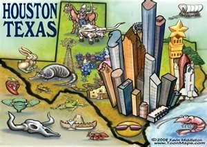 HOUSTON MAP CARTOON LARGEth