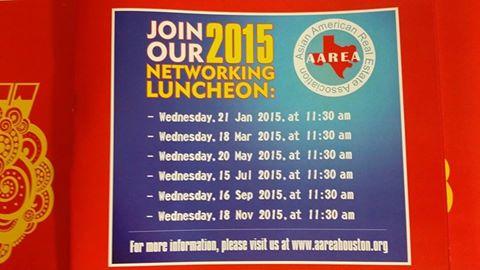AREAA 2015 LUNCHEON DATES